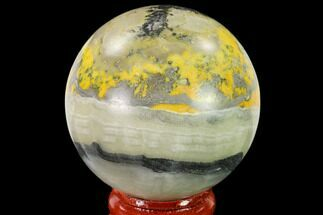 "Buy 2"" Polished Bumblebee Jasper Sphere - Indonesia - #140017"