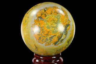 "2.7"" Polished Bumblebee Jasper Sphere - Indonesia For Sale, #140024"