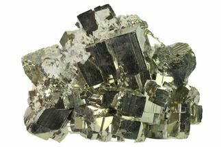 "4.1"" Cubic Pyrite Crystal Cluster - Peru For Sale, #141815"