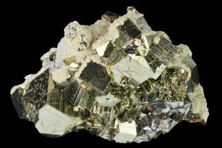 "Buy 2.1"" Cubic Pyrite, Sphalerite, Quartz and Calcite Association - Peru - #141838"