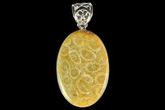 Buy 20 Million Year Old Fossil Coral Pendant - Sterling Silver - #142282