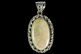 Buy 20 Million Year Old Fossil Coral Pendant - Sterling Silver - #142285
