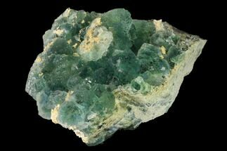 "Buy 3.5"" Stepped Green Fluorite Crystals on Quartz - China - #142390"