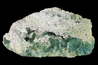 "Buy 3.8"" Stepped Green Fluorite Crystals on Quartz - China - #142447"