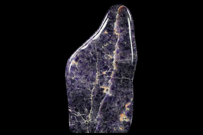 "11"" Tall, Polished Chevron Amethyst Freeform - Morocco"