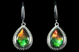 Buy Gorgeous Ammolite Earrings with Sterling Silver  - #143578