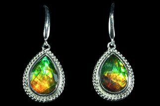 Gorgeous Ammolite Earrings with Sterling Silver  For Sale, #143579