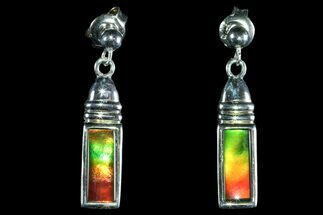 Buy Gorgeous Ammolite Earrings with Sterling Silver  - #143584