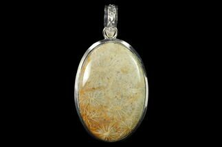20 Million Year Old Fossil Coral Pendant - Indonesia For Sale, #143690