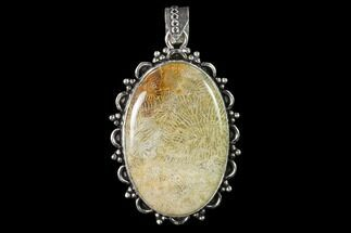 20 Million Year Old Fossil Coral Pendant - Indonesia For Sale, #143705