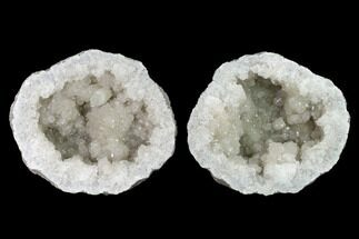 "7"" Keokuk Quartz Geode with Calcite & Pyrite Crystals - Missouri For Sale, #144764"