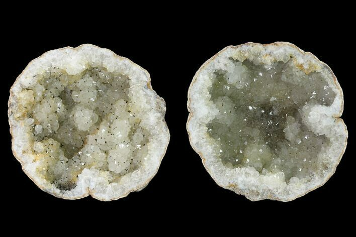 "4.4"" Keokuk Quartz Geode with Pyrite Crystals - Iowa"