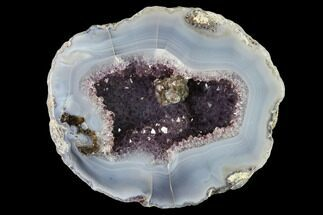 "4.8"" Las Choyas ""Coconut"" Geode Half with Amethyst & Agate - Mexico For Sale, #145862"