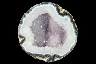 "5.8"" Las Choyas ""Coconut"" Geode Half with Amethyst & Agate - Mexico For Sale, #145874"
