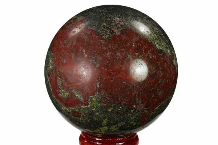 "2.45"" Polished Dragon's Blood Jasper Sphere - South Africa"