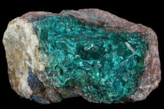 Dioptase, Shattuckite & Calcite - Fossils For Sale - #146748