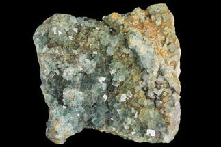 "4.1"" Blue-Green Cubic Fluorite on Smoky Quartz - China For Sale, #147110"