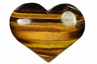 "Buy 3"" Polished Tiger's Eye Heart - #148744"