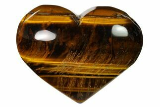 "3.3"" Polished Tiger's Eye Heart For Sale, #148745"
