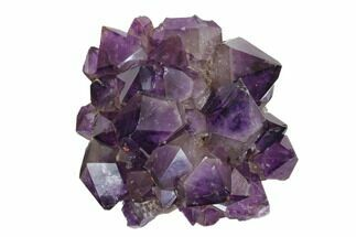 "Beautiful, 5.9"" Purple Amethyst Crystal Cluster - Congo For Sale, #148646"
