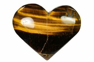 "Buy 2.9"" Polished Tiger's Eye Heart - #148777"