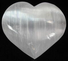 "Buy 2 1/2"" Polished Selenite Hearts  - #148996"