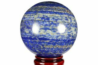 "3.9"" Polished Lapis Lazuli Sphere - Pakistan For Sale, #149387"