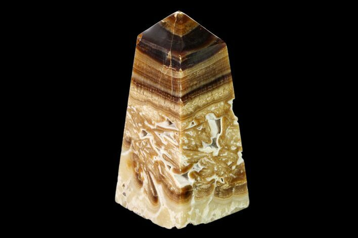 "3.4"" Polished Chocolate Calcite Tower - Pakistan"