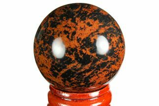 "Buy 1 1/2 to 1 3/4"" Polished, Mahogany Obsidian Spheres - #150394"