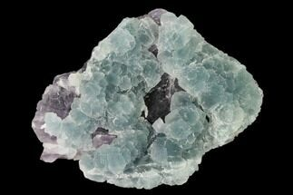 "Buy 5"" Green Fluorite Over Purple Octahedral Fluorite - Fluorescent! - #149680"
