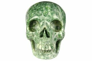 "Buy 3"" Realistic, Polished Hamine Jasper Skull - #151003"