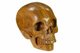 "Buy 3"" Realistic, Polished Picture Jasper Skull  - #151144"