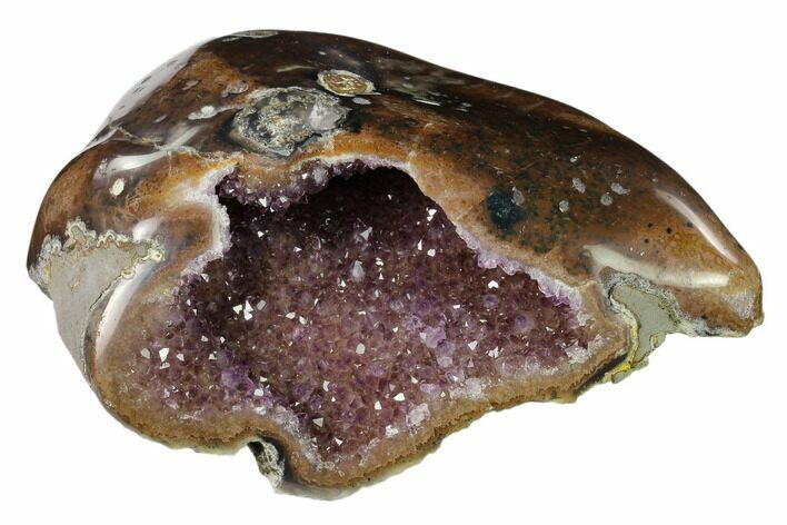 "7.3"" Amethyst Geode With Polished Face - Uruguay"