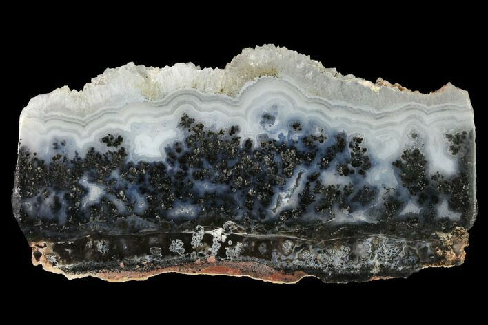 "4.9"" Polished Medicine Bow Agate Slab - Wyoming"