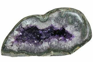 "Buy 11.8"" Amethyst Geode With Polished Face - Uruguay - #151309"
