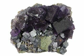 "Buy 4.7"" Cubic Fluorite, Galena and Sphalerite Association - Elmwood Mine - #153331"