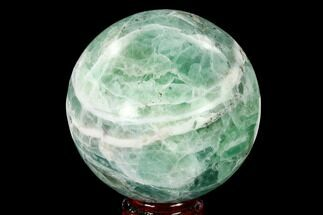 "Buy 3.65"" Polished Green Fluorite Sphere - Mexico - #153376"