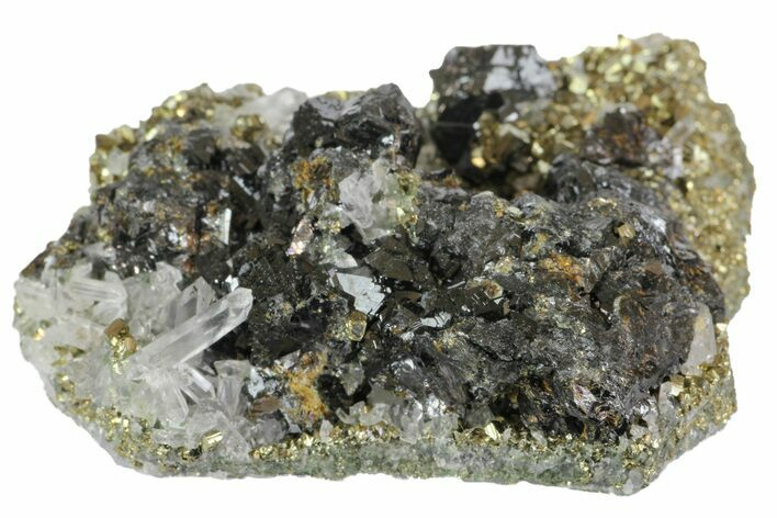 "2.2"" Sphalerite, Pyrite and Quartz Association - Peru"