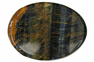 "Blue Tiger's Eye Worry Stones - 1.5"" Size For Sale, #155183"