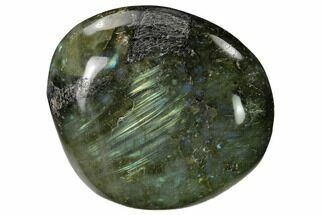 "2.45"" Flashy, Polished Labradorite Palm Stone - Madagascar For Sale, #155714"