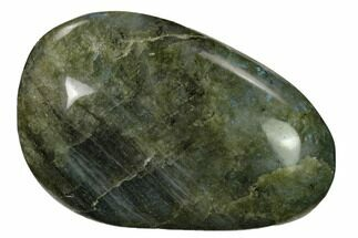 "3.5"" Flashy, Polished Labradorite Palm Stone - Madagascar For Sale, #155690"