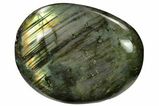 "3"" Flashy, Polished Labradorite Palm Stone - Madagascar For Sale, #155693"