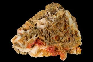 "2.5"" Sparkly Vanadinite Crystals on Pink Barite - Morocco For Sale, #155402"