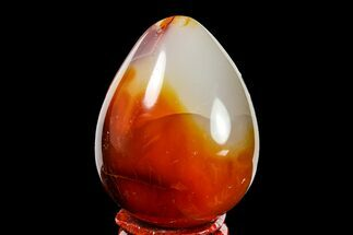"Buy 2.15"" Colorful, Polished Carnelian Agate Egg - Madagascar - #156598"