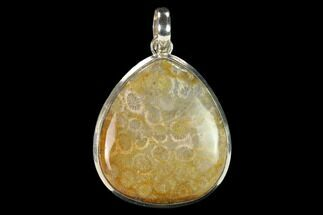 20 Million Year Old Fossil Coral Pendant - Indonesia For Sale, #145070