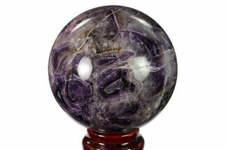 "3.15"" Polished Chevron Amethyst Sphere - Morocco For Sale, #157622"