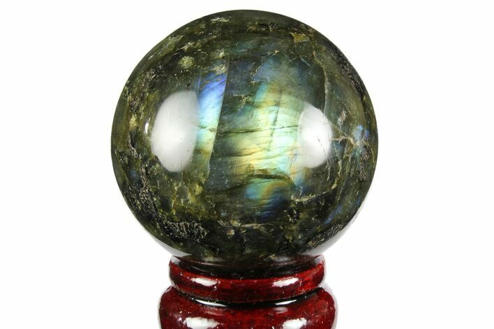 "2.35"" Flashy, Polished Labradorite Sphere - Great Color Play"