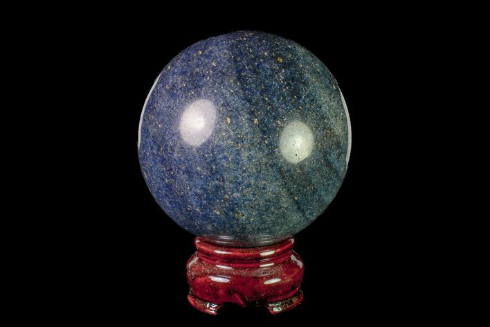 "2.8"" Polished Dumortierite Sphere - Madagascar"