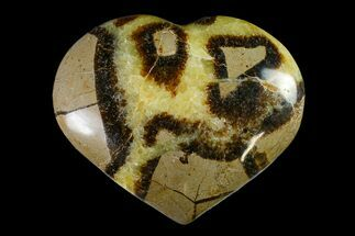 "3.9"" Polished Septarian Heart - Madagascar For Sale, #156656"