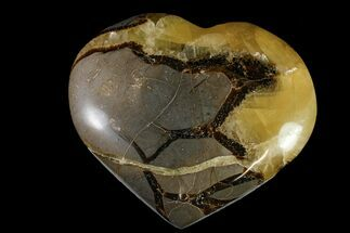 "3.6"" Polished Septarian Heart - Madagascar For Sale, #156659"